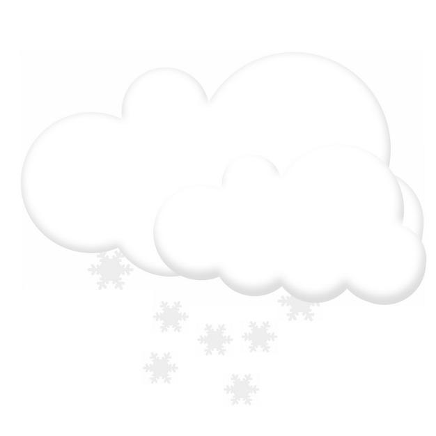 下雪天气预报白色文本框对话框127576PSD图片免抠素材