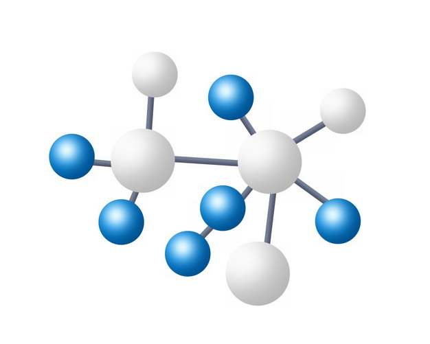 蓝色白色小球组成的分子结构模型872985png图片素材