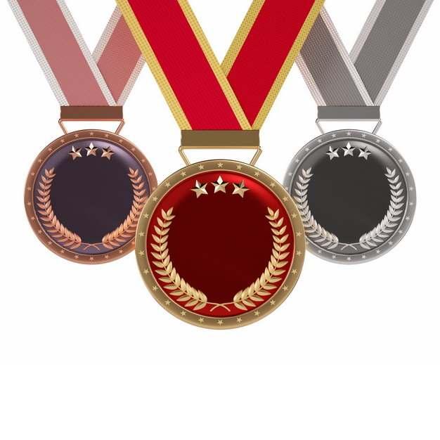 三枚金牌银牌和铜牌等奖牌944762png图片素材