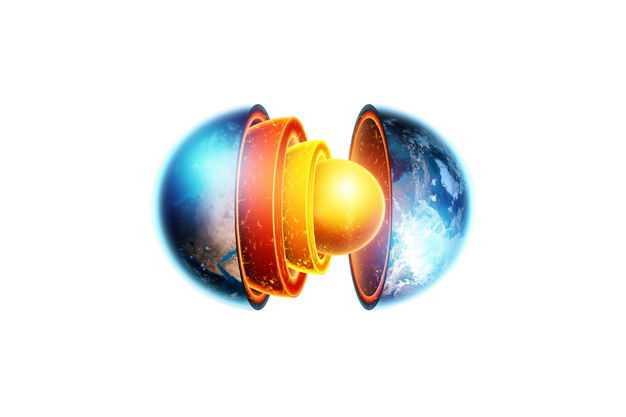 完整的3D立体地球内部结构地壳地幔地核等地球圈层764498png免抠图片素材