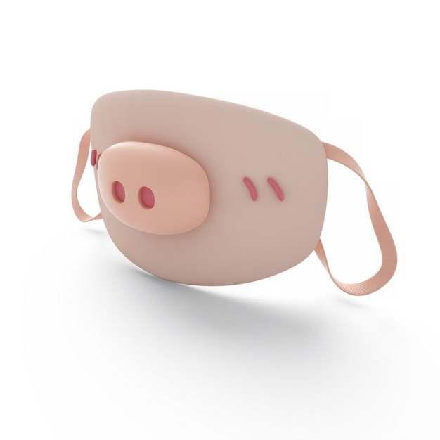 3D立体可爱的猪鼻子小猪口罩803823png图片素材