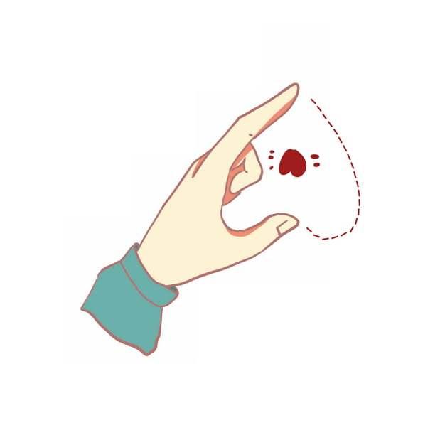 一只手比心手势动作695828PSD图片免抠素材