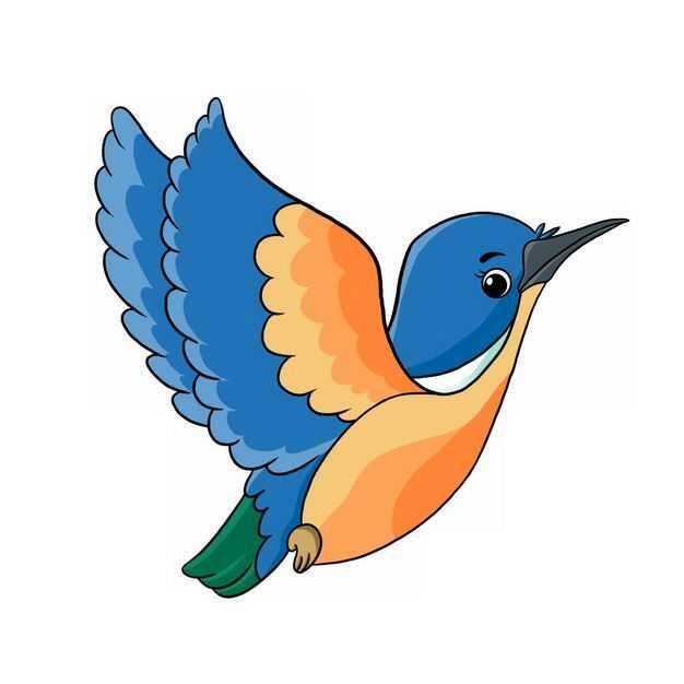 手绘卡通彩色蜂鸟小鸟366913png图片免抠素材