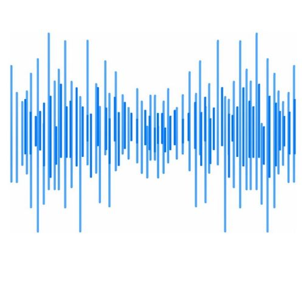 长短不一的蓝色短线条组成的音乐音频均衡器图案839084png图片素材