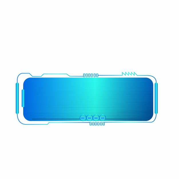 蓝色拉丝金属风格科技文本框信息框628031png图片素材