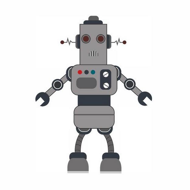搞笑的卡通智能小机器人201202png图片免抠素材 人物素材-第1张