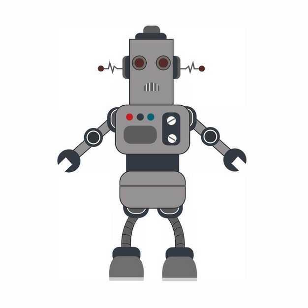 搞笑的卡通智能小机器人201202png图片免抠素材
