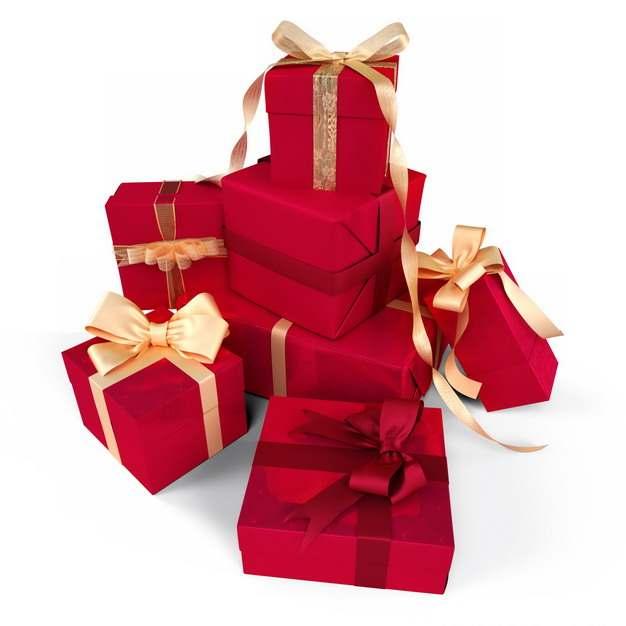 一大堆包装精美的红色礼物盒853380png图片免抠素材