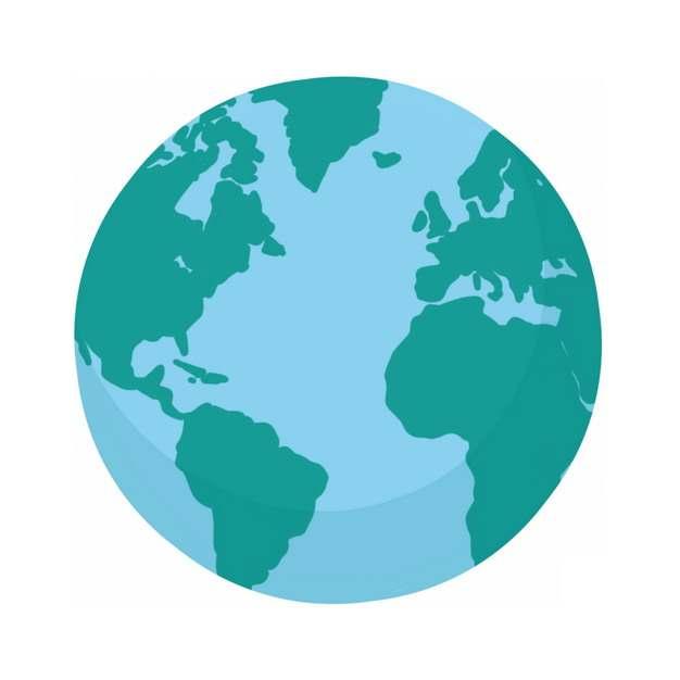 简约地球西半球图案148676PSD图片免抠素材