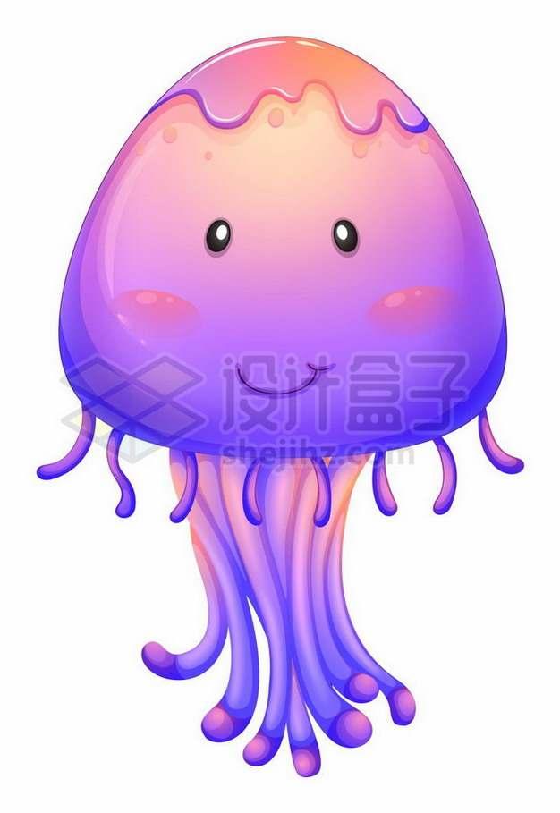 超可爱的紫色卡通水母261786png矢量图片素材