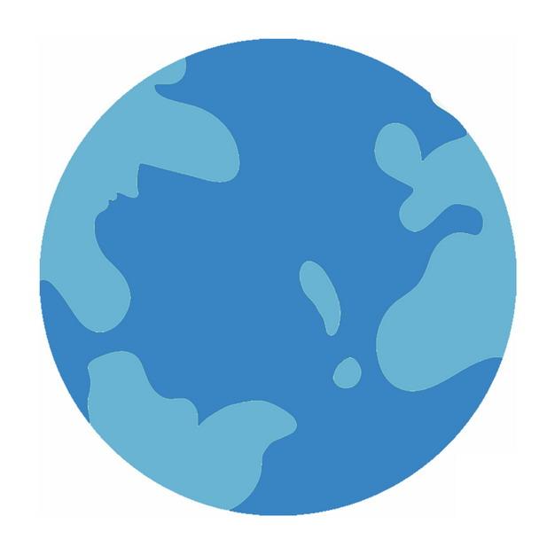 简约风格蓝色的地球图案824810PSD图片免抠素材 科学地理-第1张