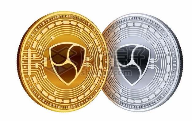 金色和银色的区块链虚拟货币硬币150660图片素材