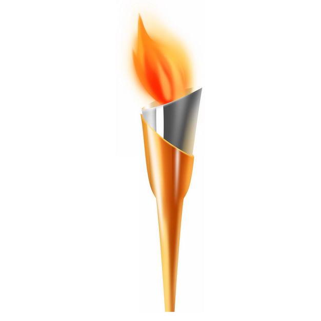 银色和橙色奥运会火炬728517免抠图片素材
