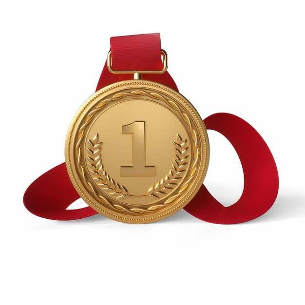 一个金色金质奖章金牌勋章奖牌第一名822723png图片素材