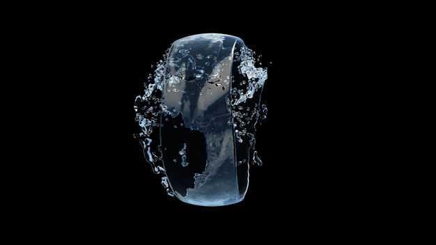 半透明蓝色水花效果335878png图片免抠素材