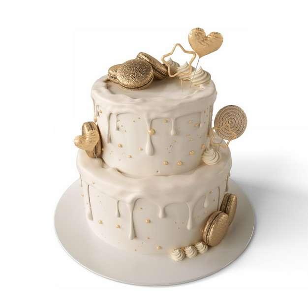 米白色的双层生日蛋糕862088png图片素材