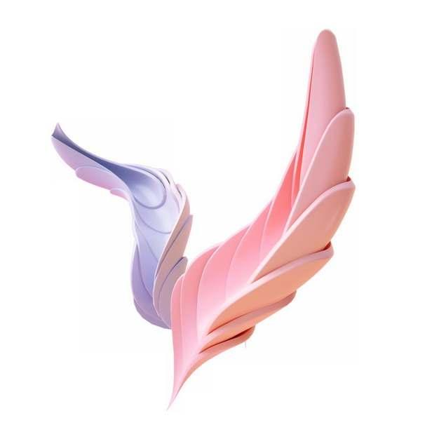 创意粉色紫色抽象扭曲羽毛图案989440png图片素材