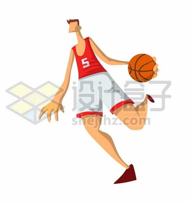 打篮球的卡通年轻人924525图片素材