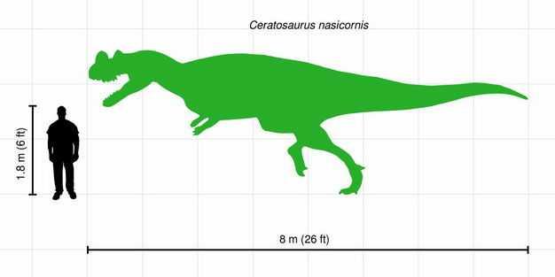 异特龙霸王龙肉食恐龙和人类大小对比图3393048png图片免抠素材
