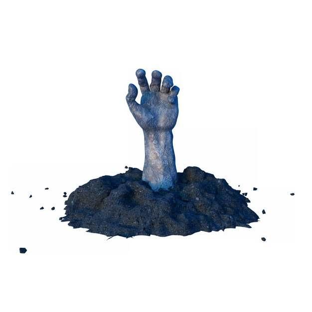 黑色泥土中伸出的干枯的手僵尸147181png图片素材