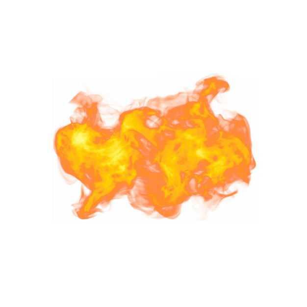 一团燃烧的火焰火苗效果194015PSD免抠图片素材