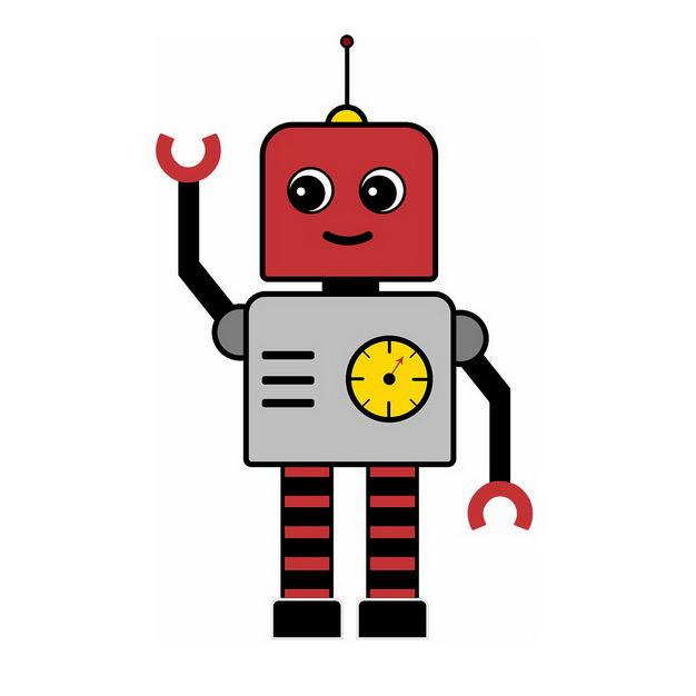 可爱的打招呼卡通小机器人260627png图片免抠素材