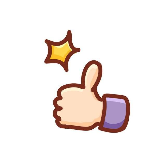 卡通小手竖起大拇指点赞632831PSD图片免抠素材