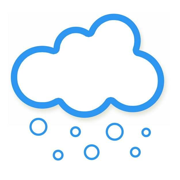 下雪天气预报蓝色线条文本框对话框132592PSD图片免抠素材
