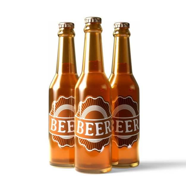三瓶啤酒玻璃瓶714530png图片素材