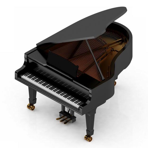 3D立体黑色三角钢琴音乐乐器9778263png图片免抠素材 休闲娱乐-第1张