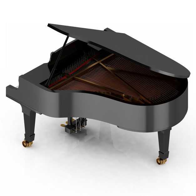 3D立体黑色三角钢琴音乐乐器9755993png图片免抠素材