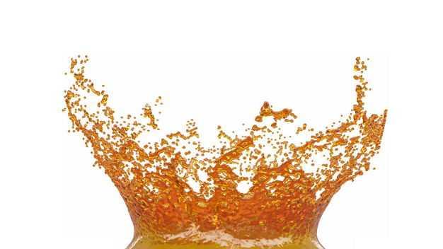 橙色果汁飞溅的橙色水花效果190599png图片免抠素材