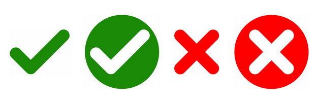 绿色对号和红色错号正确错误图标符号139659免抠图片素材 按钮元素-第1张