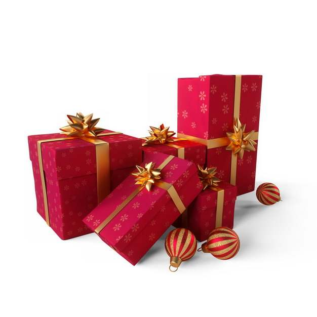 3D立体红色礼物盒礼品盒698505png图片素材