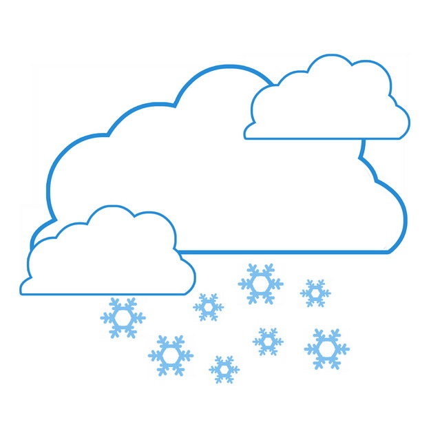下雪天气预报蓝色线条图标139241PSD图片免抠素材