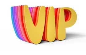彩虹色3D立体C4D风格VIP艺术字体7517601png图片免抠素材