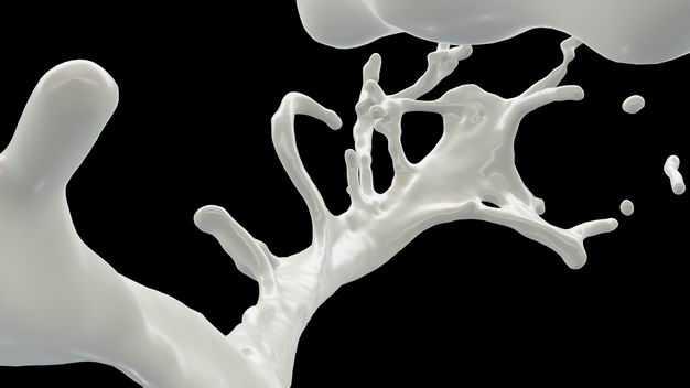 乳白色液体飞溅的牛奶喷溅效果108291png图片免抠素材