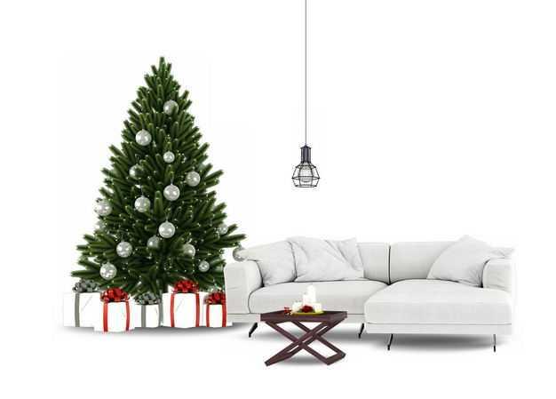 圣诞节圣诞树和沙发茶几209051免抠图片素材