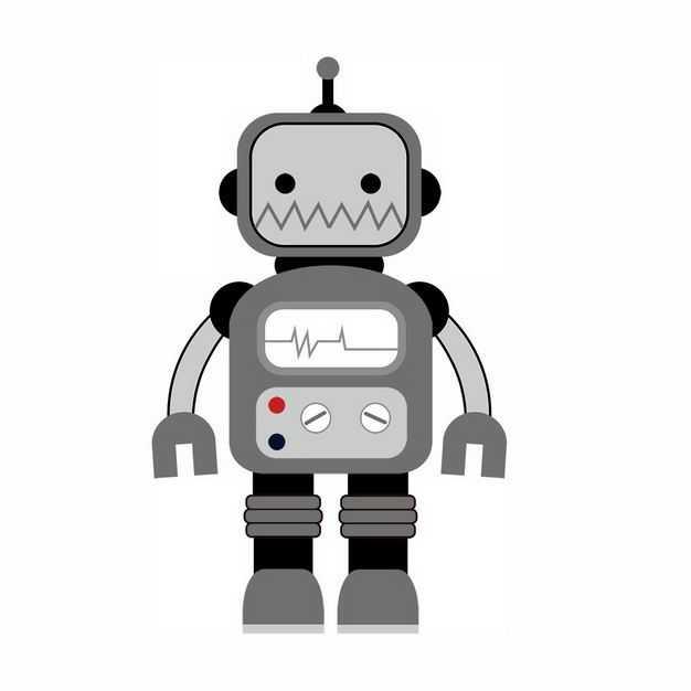 可爱的灰色卡通小机器人293236png图片免抠素材