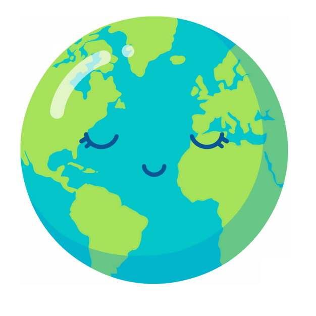 闭眼的超可爱卡通地球419973PSD图片免抠素材