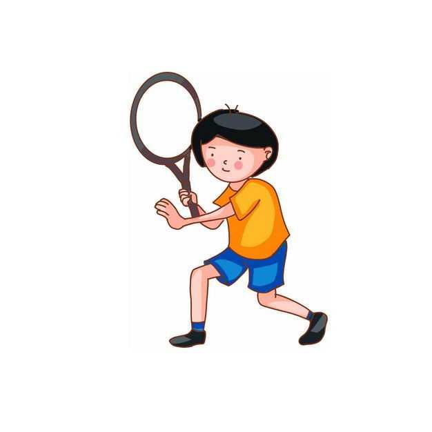 打网球的卡通女孩536542png免抠图片素材
