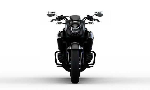 3D立体黑色重机车公路摩托车运动摩托车正面视角6370661png图片免抠素材