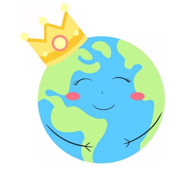 超可爱卡通地球戴着皇冠167832PSD图片免抠素材