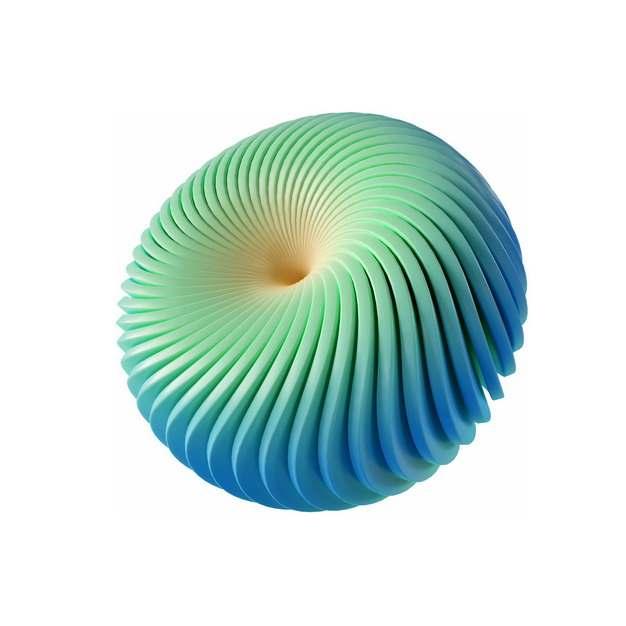 创意绿色抽象扭曲圆球图案516583png图片素材