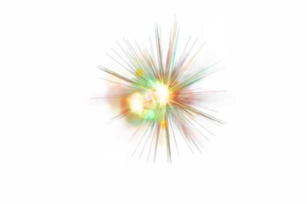 彩色闪光星光光芒光晕效果342255png免抠图片素材