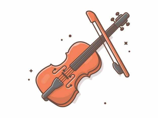 MBE风格的小提琴和琴弓2633661EPS图片免抠素材