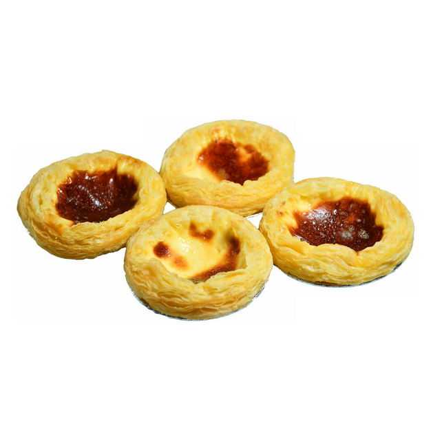 四个蛋挞美味美食7103817png图片免抠素材