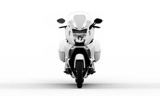 白色重机车公路摩托车正面视角3166629PSD图片素材