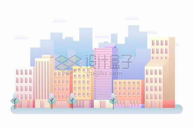 卡通彩色城市建筑高楼大厦1412146png图片免抠素材