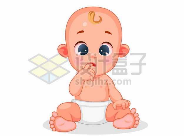 超可爱咬手指的卡通宝宝8642220png图片免抠素材